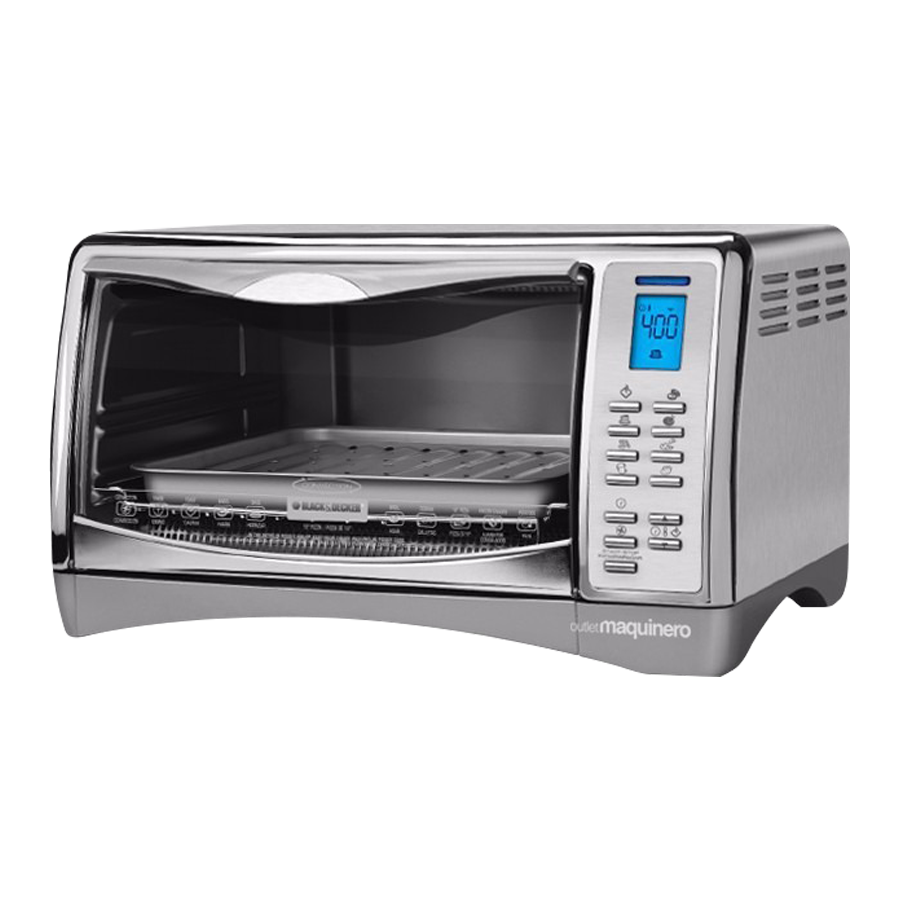 Beiro hogar horno electrico black decker cto4551 acero for Horno electrico black decker
